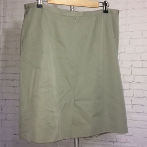 Talbots Plus Size Wool Skirt